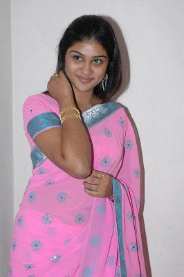 A traditional tamil girl in saree.