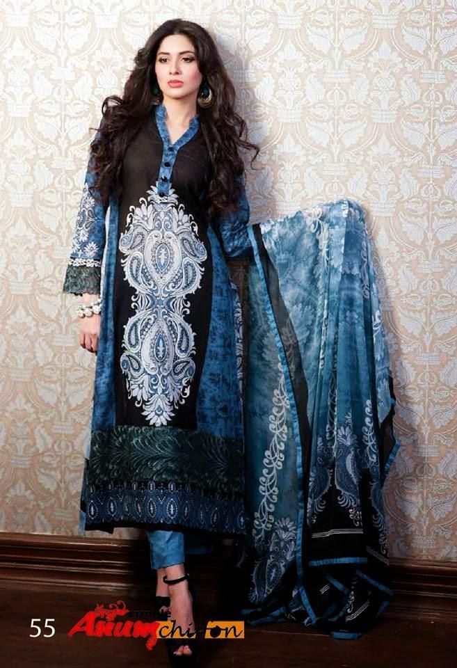 Al ZohaibTextileAnumChiffonCollection2014 wwwfashionhuntworldblogspotcom 04 - Anum Chiffon Collection 2014 By Al-Zohaib Textile