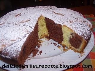 Torte Da Credenza Al Cioccolato : Delizie da mille una notte torta variegata al cioccolato