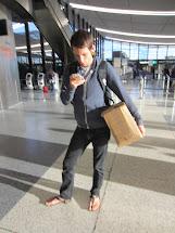 Barefoot at Airport