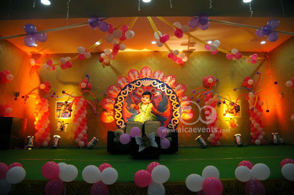 Aicaevents india butterfly theme birthday party decorations for Balloon decoration in hyderabad