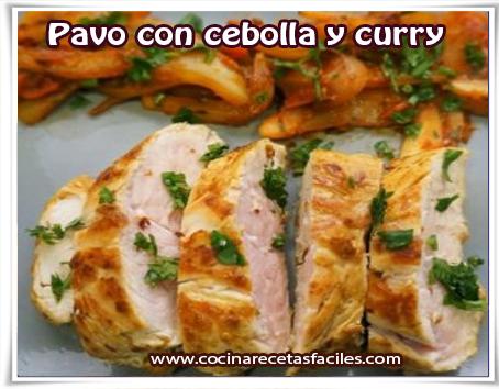 Recetas de aves , pavo con cebolla y curry