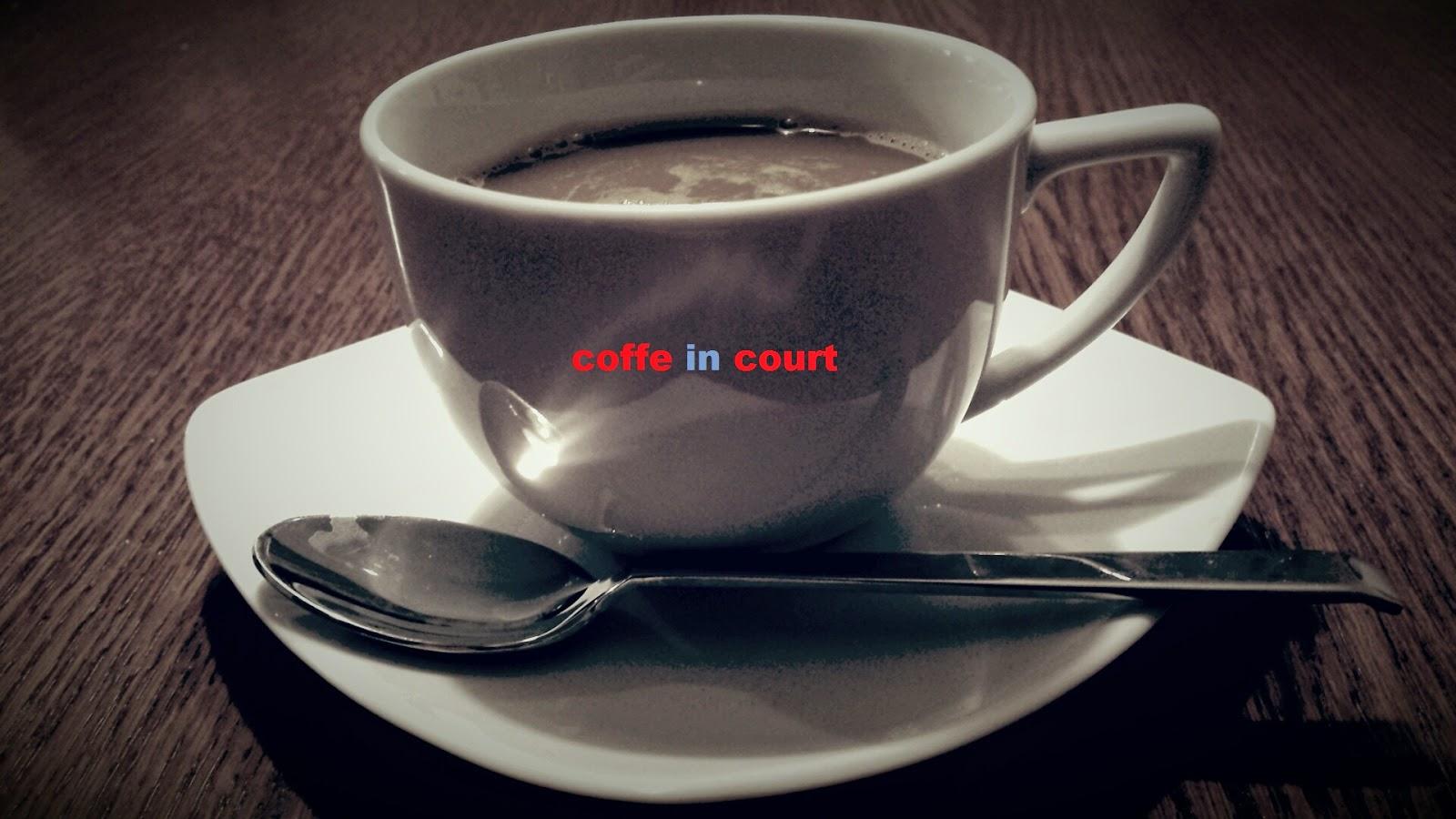 Kawa w sądzie.