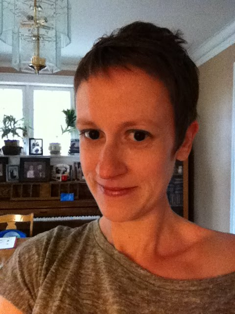 first post-chemo haircut ^