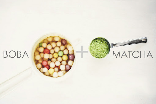 Une-deux senses: Matcha Green Tea Slushie with Boba