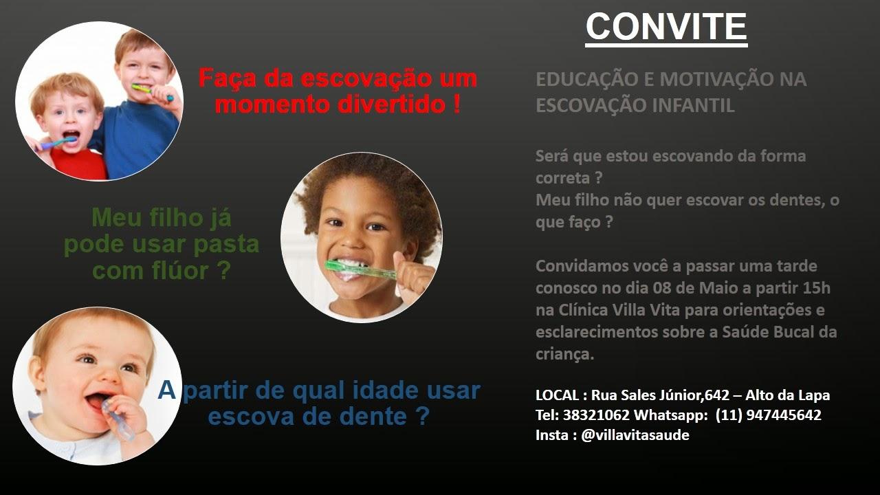 convite%2Bworshop%2Bescova%C3%A7%C3%A3o - Educação e motivação na escovação infantil !