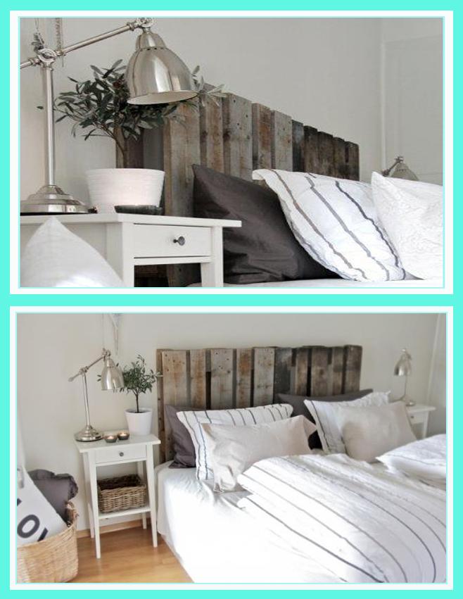 C mo decorar con palets pinturadecor - Cabeceros de madera pintados ...