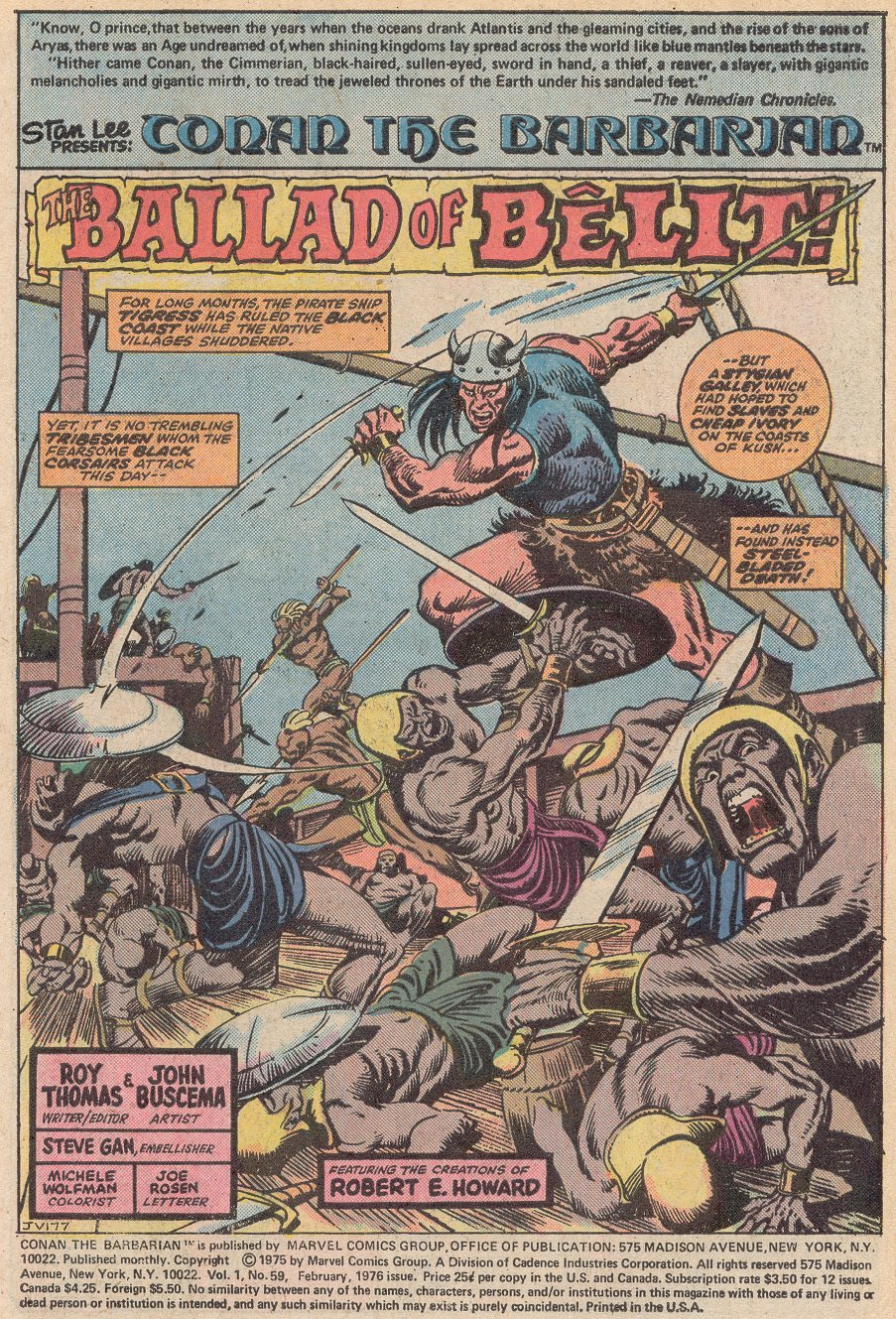 Conan the Barbarian (1970) Issue #59 #71 - English 2