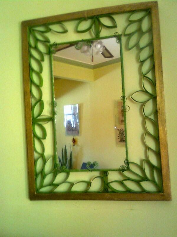 El taller de Ire: Marco para espejo de Irelda