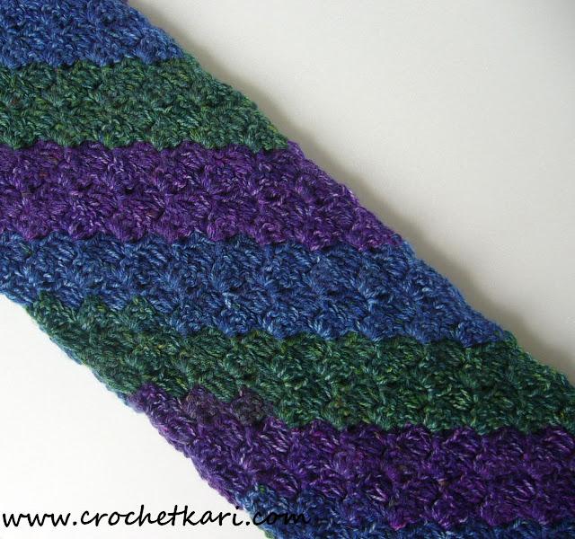 Crochet C2C scarf details