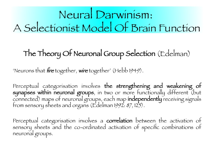 neural darwinism Academiaedu is a platform for academics to share research papers.