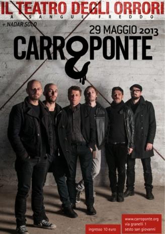 Teatro degli Orrori in concerto al Carroponte di Sesto San Giovanni mercoledì 29 maggio 2013