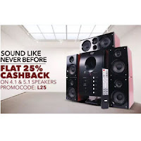 PaytM : Buy 4.1 and 5.1 Speakers Extra 35% Cashback from Rs. 1,312  only:buytoearn