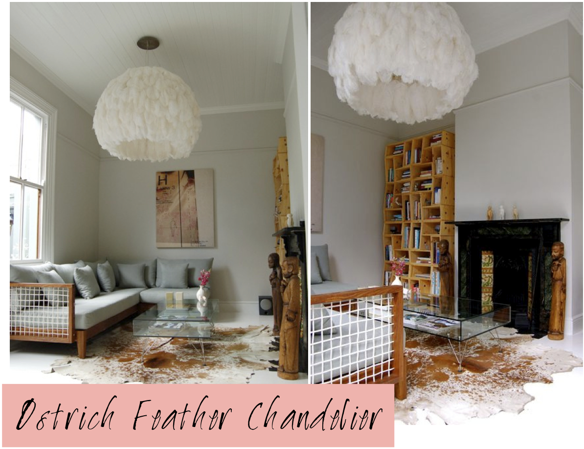 An Ostrich Feathers Chandelier The South African Furniture Designer And Creator Of This Piece Haldane Martin Hangs It In His Own Cape Town Home
