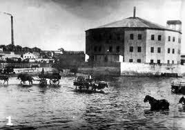 Embarcadero frente al hotel de inmigrantes 1879