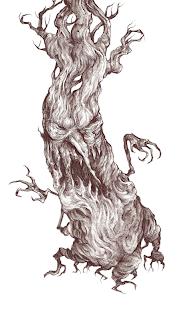 Scary evil satanic tree