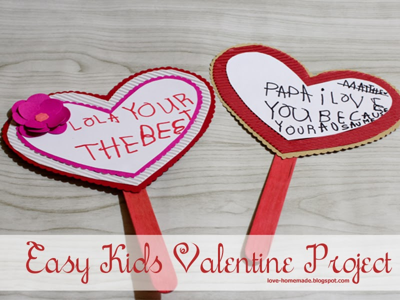 Easy Kids Valentine Project - Posicle Hearts