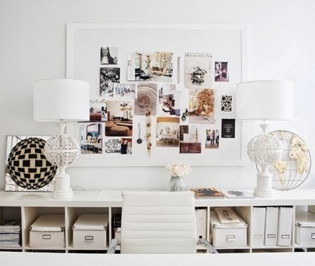 Awesome  the time or effort to go out and get picture frames try covering a cork board with inspiration This is a cheaper and more condensed inspiration wall