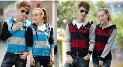 Jual Jacket W Couple Online Murah di Jakarta Lengan Panjang Trendy