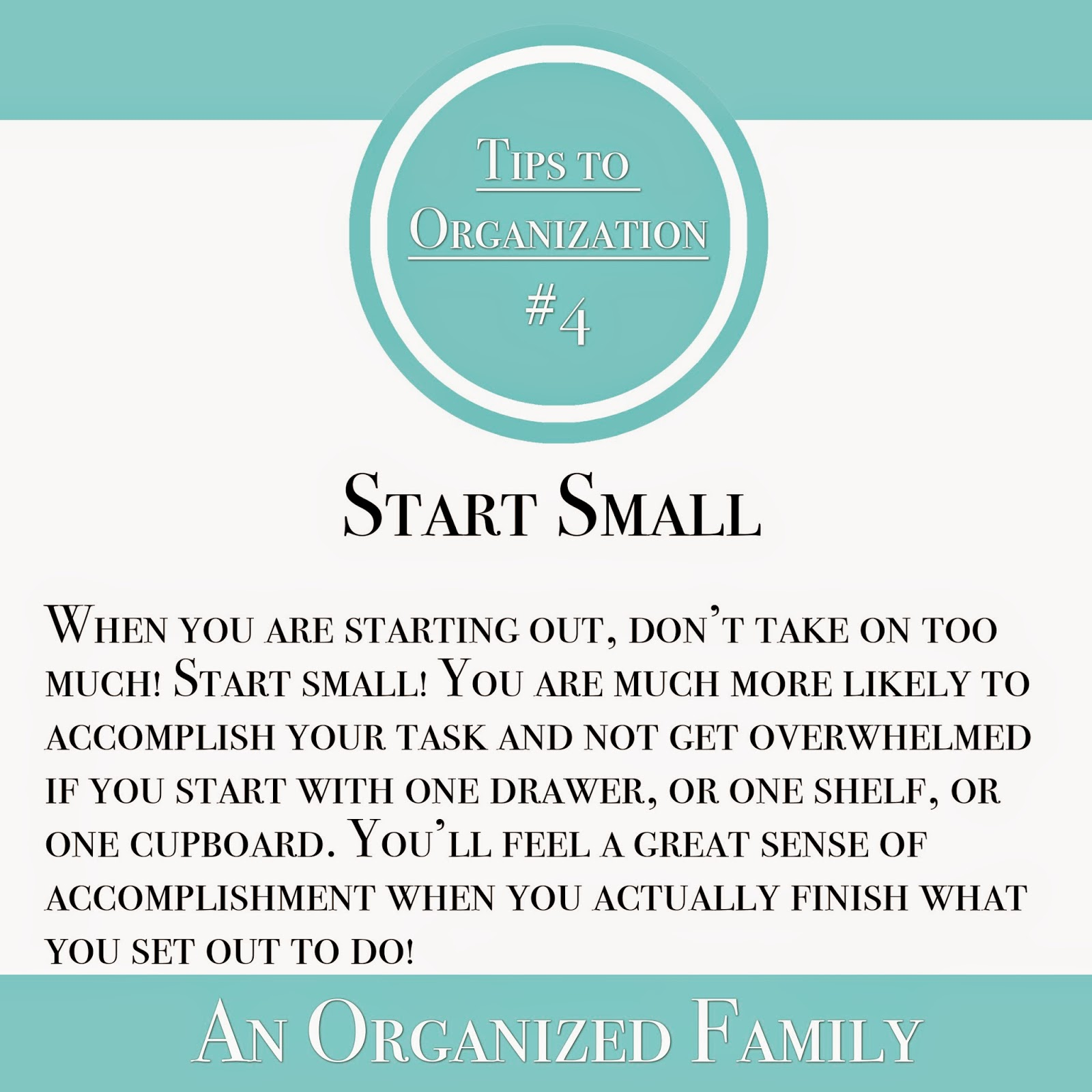 An Organized Family - tips to organization