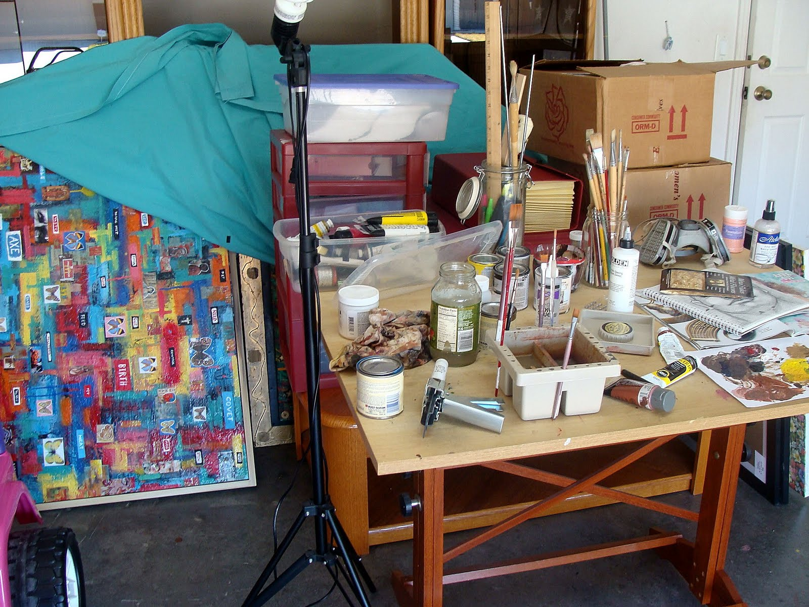 Raw art gallery home art studio space - Home art studio ...