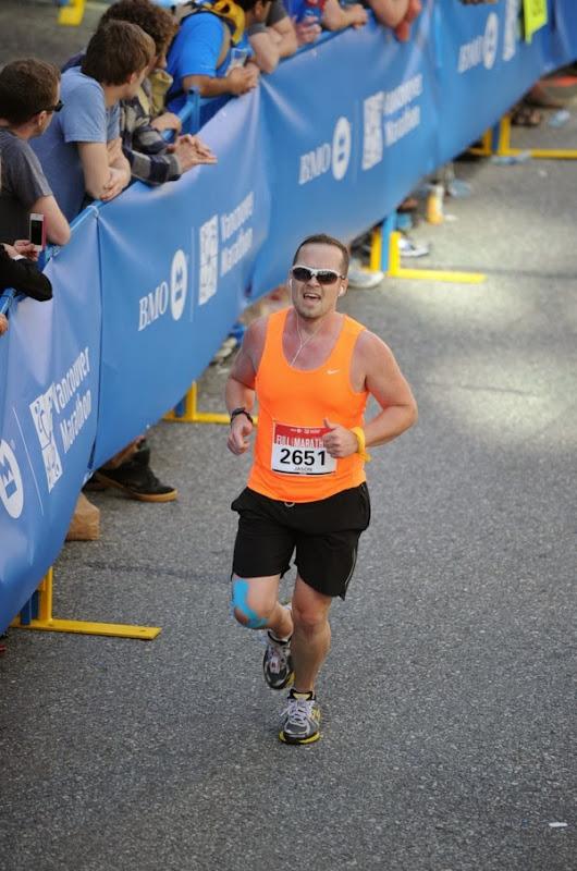 Vancouver Marathon 2013 Finish Line