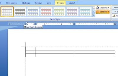 Cara Membuat Table Pada MS Word Dan Dipasang Di Blog