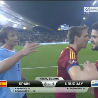 انتهاء مباراة   أسبانيا 3 - 1 أوروجواي   مبروووووك لعشاق الماتدور الأسباني