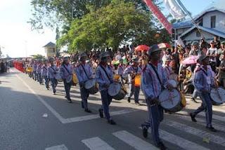 Lomba Kirab Drumband Meriahkan 1 Juni Harjad Kotabaru