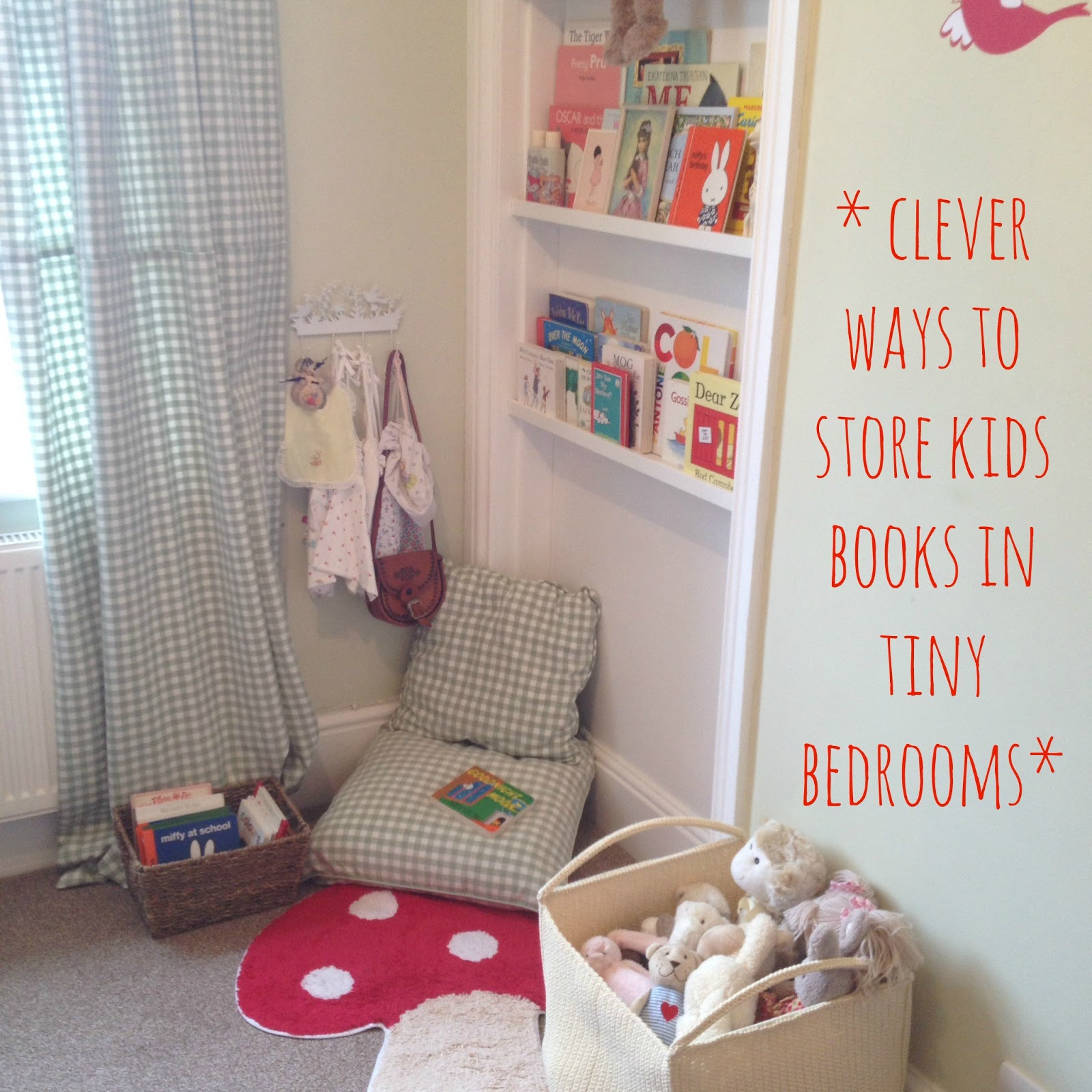 V. I. BEDROOM: Clever ways to store kids books in tiny bedrooms