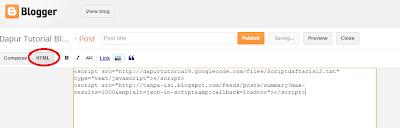 Area Postingan HTML