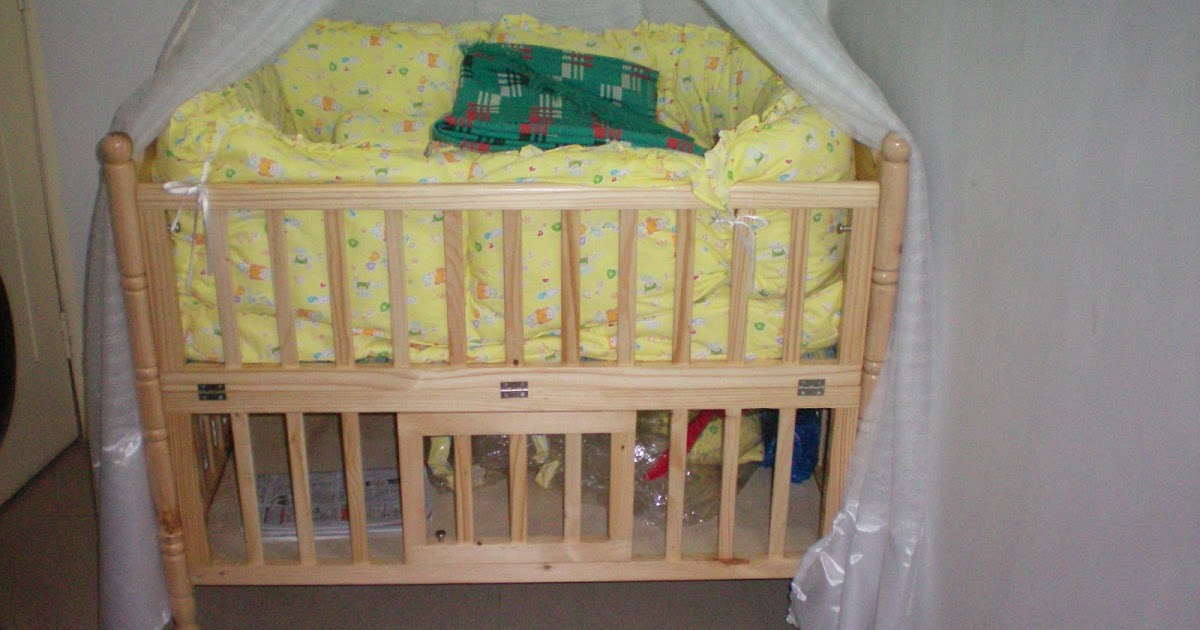 Rental and resale flats wooden baby crib cot with cradle for sale