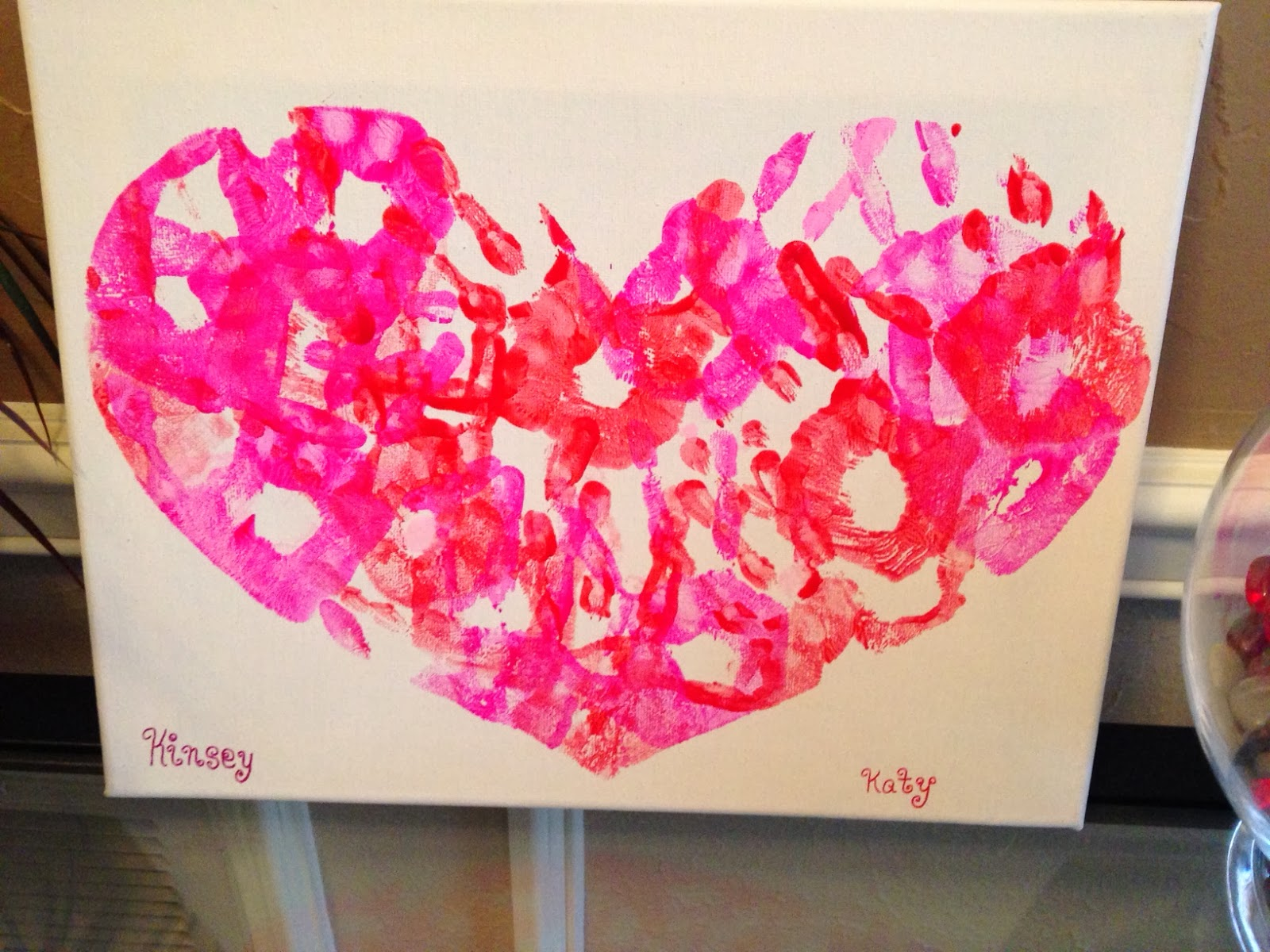 kids handprint heart