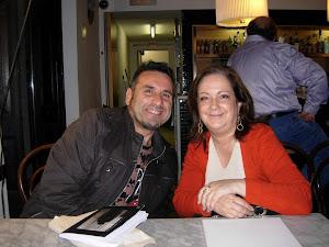 Con Amalia Sanchís, gran poetisa.