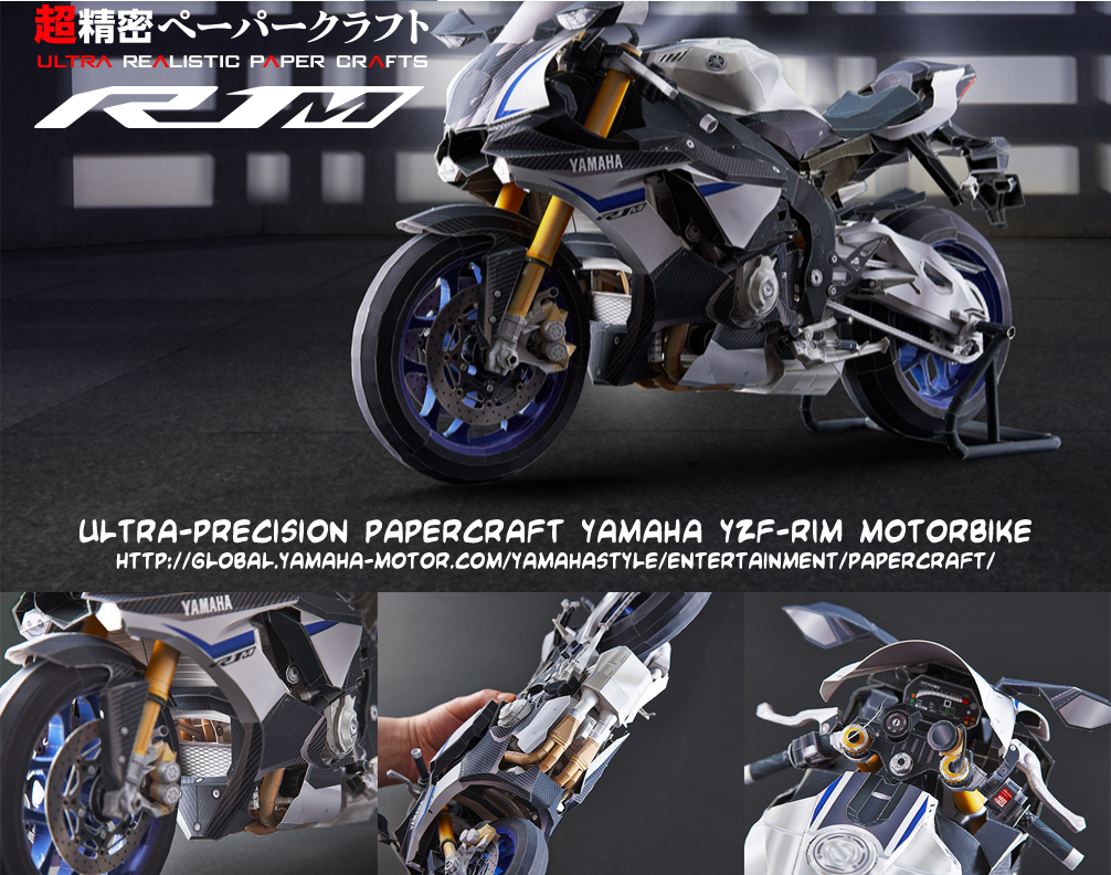 Ninjatoes 39 papercraft weblog ultra precision papercraft for Yamaha motor com parts