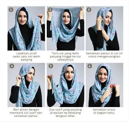 ... hijab scarf segi empat modern dan terbaru yang bisa Anda coba