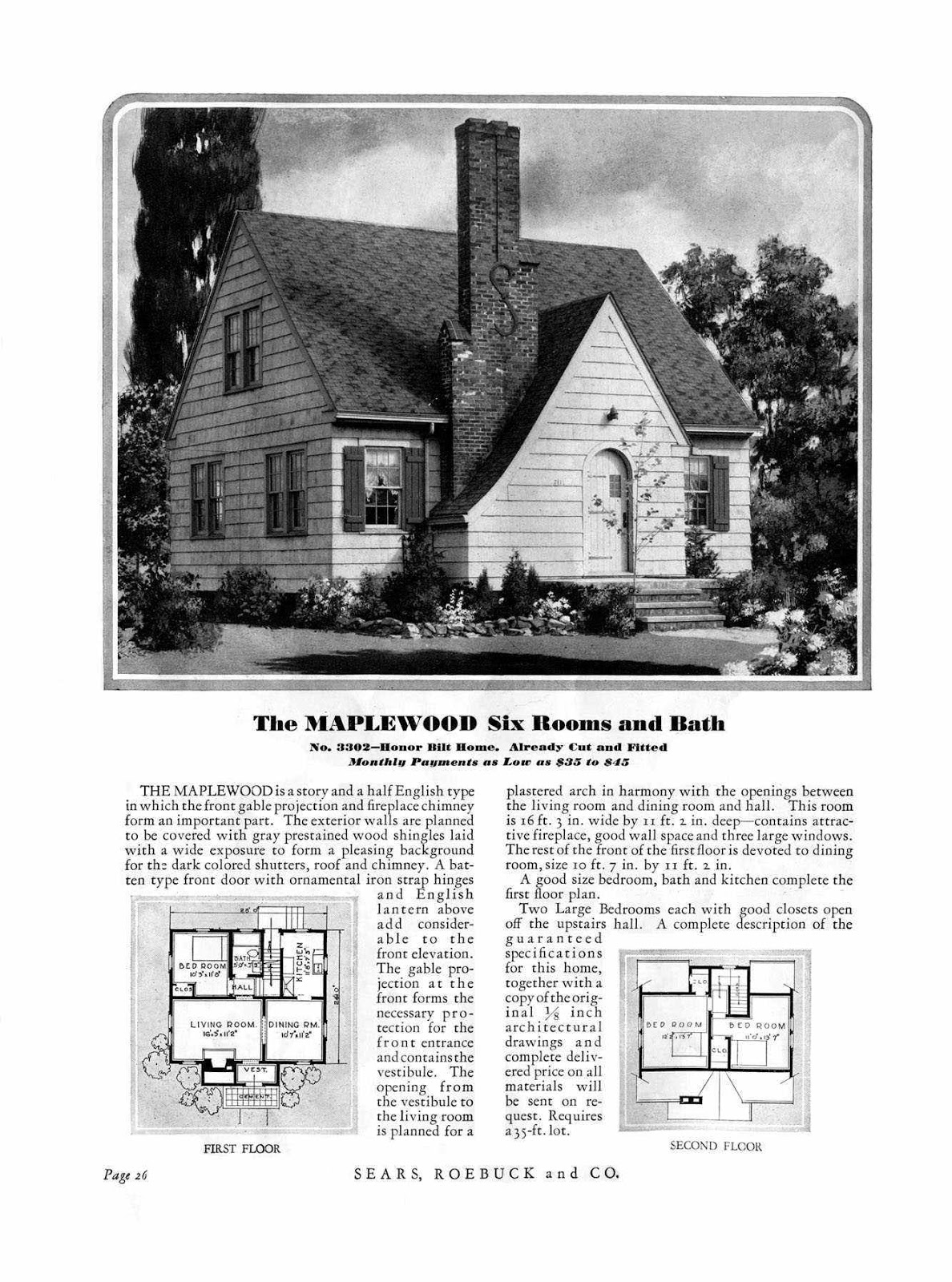 Small scale homes sears kit homes for House plan catalogs free