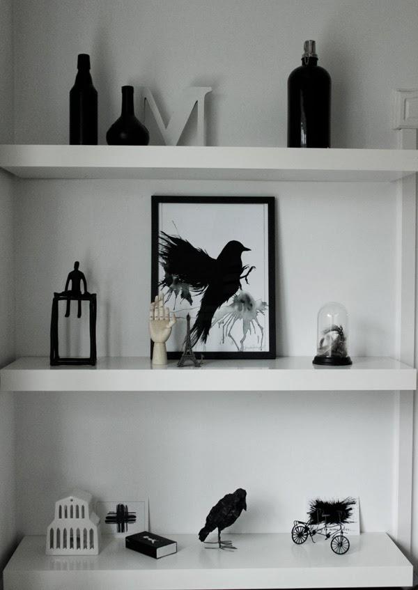 ikea hyllor vita ~ svart, vitt & rött lack svart och vitt