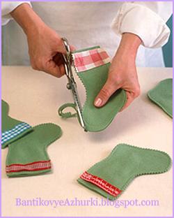 как делать рождественский носок