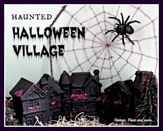 Vintage, Paint and more... DIY haunted Halloween village
