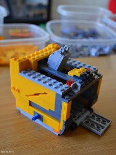 lego wall-e: making the cube