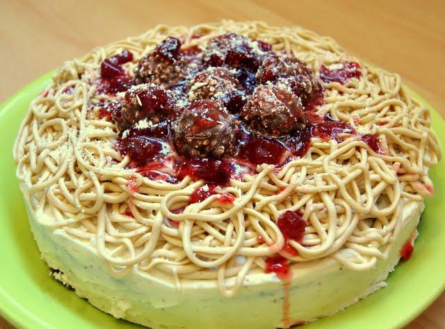 Maybe Matilda: Spaghetti and Meatballs Birthday Cake