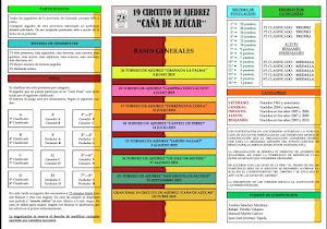 Bases del 19 Circuito de Ajedrez Caña de Azúcar