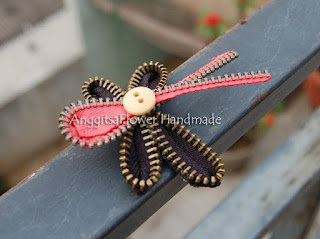 Zipper Dragonfly Brooch