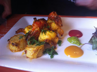 Stitch and Bear - Piri Piri prawns and scallops at Indie Spice Sandymount