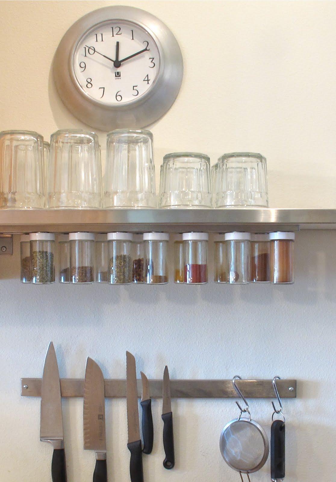 Magnetic spice racks for kitchen - Diy Hanging Magnetic Spice Rack Storage