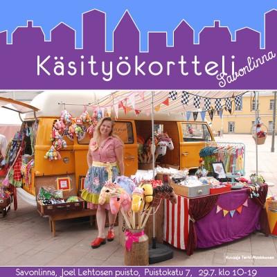 Käsityökortteli Savonlinnassa Pyhän Olavin päivänä 2017! Klikkaa kuvaa!
