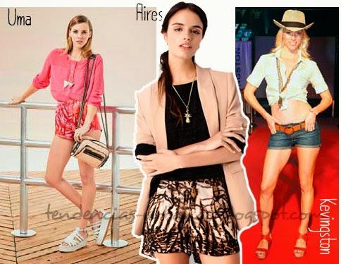 Shorts estampados de moda juvenil verano 2014