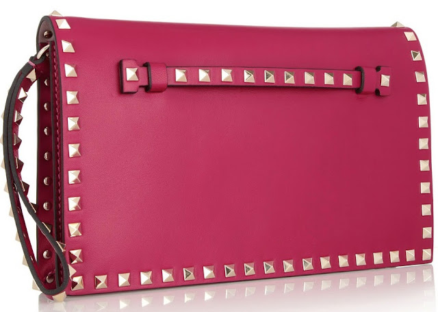 Pink Valentino Rockstud Clutch