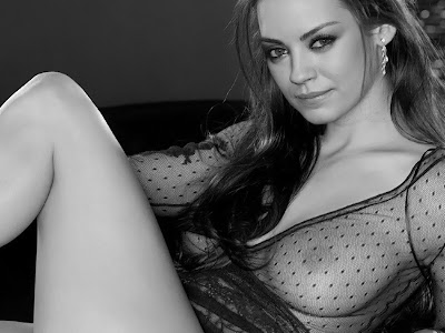 Mila Kunis sexy see through lingerie photoshoot
